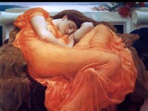 19th c Sleeping Woman